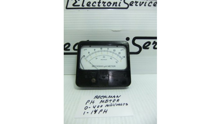 Beckman  analog PH meter 0 to 400 millivolts