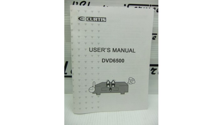 Curtis DVD6500 manuel d'instruction