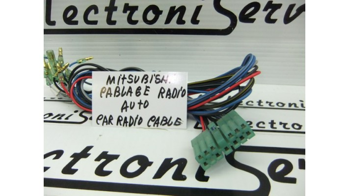 Mitsubishi car radio wiring harness