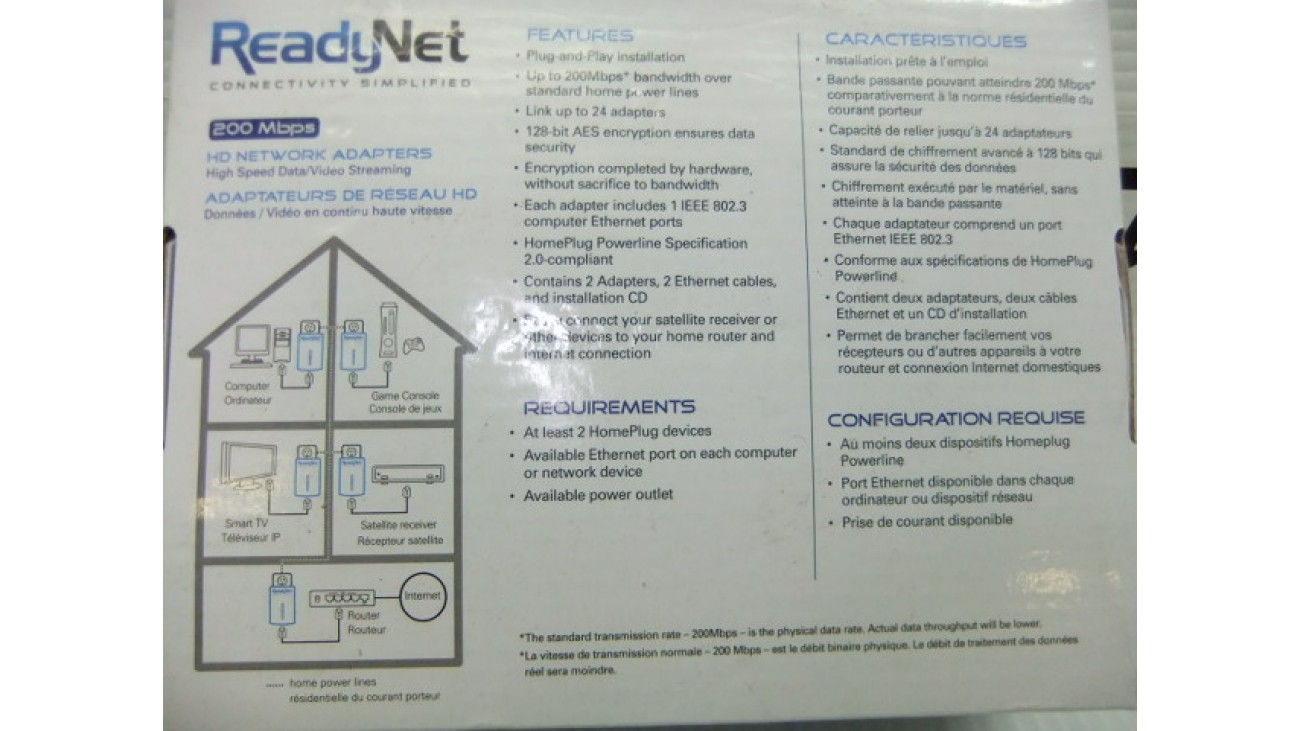 Shaw Direct ReadyNet HD network adapters